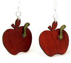 Teacher's Apple Earrings