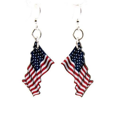 Waving American Flag Earrings