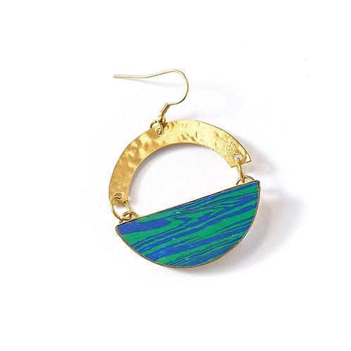 Ria Green/Blue Swirl Earrings