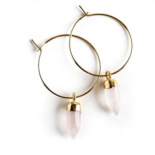 Berklee Earrings-Rose Quartz
