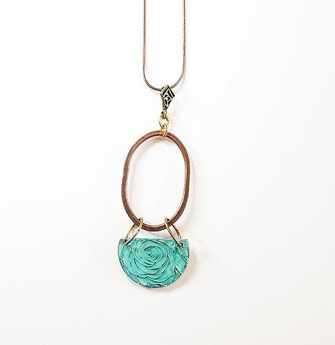 Portia Mixed Metal Rose Pendant Necklace