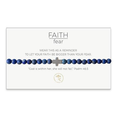 Cross Stretch Bracelet-Lapis Lazuli