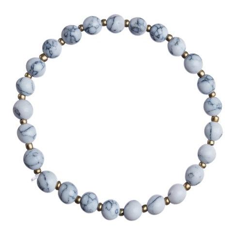 Howlite Natural Stone Stretch Bracelet