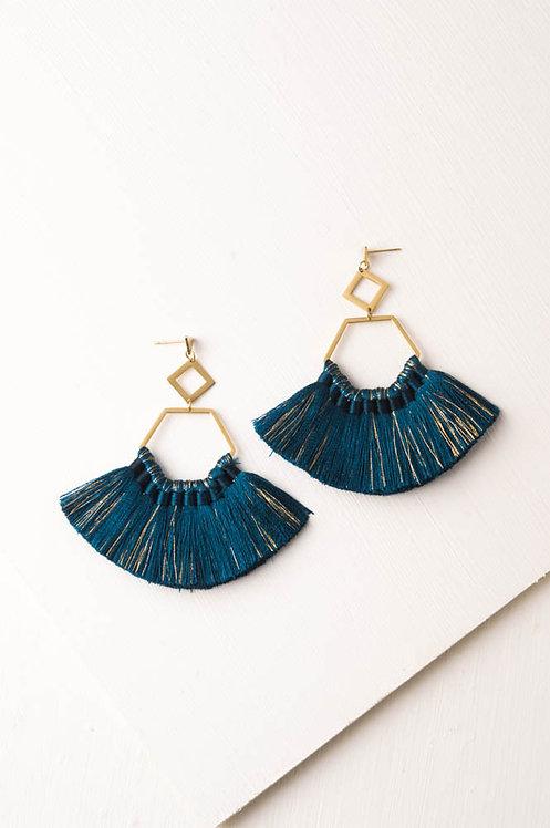 Handmade Ava Sapphire Tassel Earrings