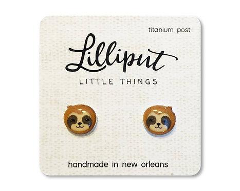 Cute Sloth Stud Earrings