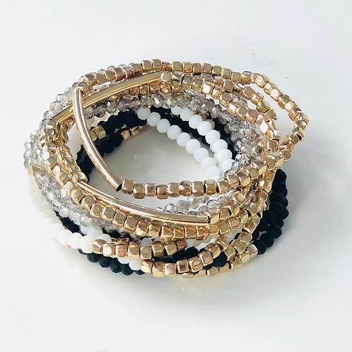 Multi-Color Beaded Stacking Bracelets
