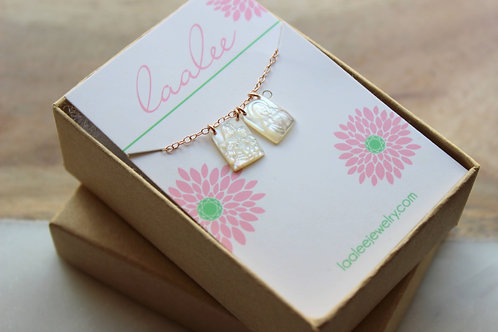 Mother-of-Pearl Double Scapular Style Necklace