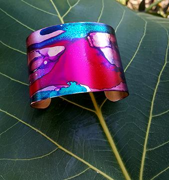 Flow Abstract OOAK Inked Cuff Bracelet