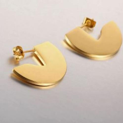 Audrey Half-Moon Earrings