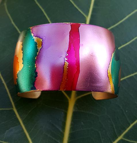 O'Keefe Abstract OOAK Cuff Bracelet