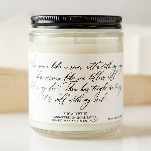 Eucalyptus Hymn Candle- It Is Well With My Soul