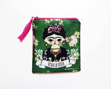 Frida Kahlo Viva La Vida Cosmetic Bag