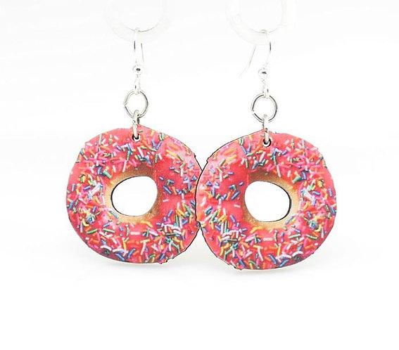 Doughnut with Sprinkles Earrings