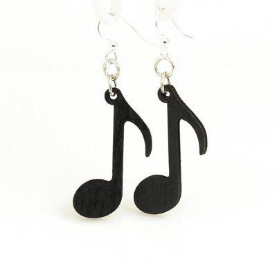 Music Note Earrings  Eighth Note