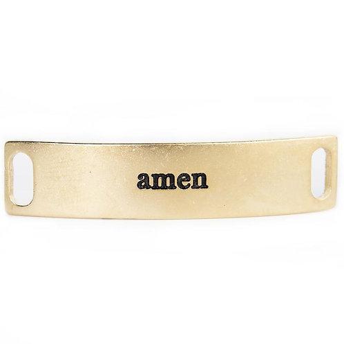 """""""Amen"""" Engraved Bracelet Tag"""