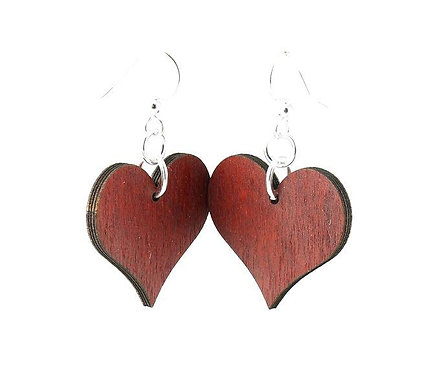 Small Solid Heart Earrings Choice of Colors