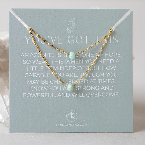 Lily Necklace-Amazonite