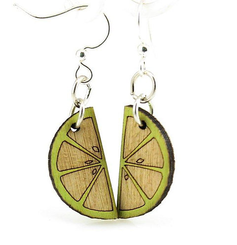 Small Citrus Fruit Wedge Earrings