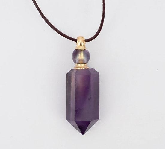 Zengo Amethyst Purple Crystal Vial Necklace