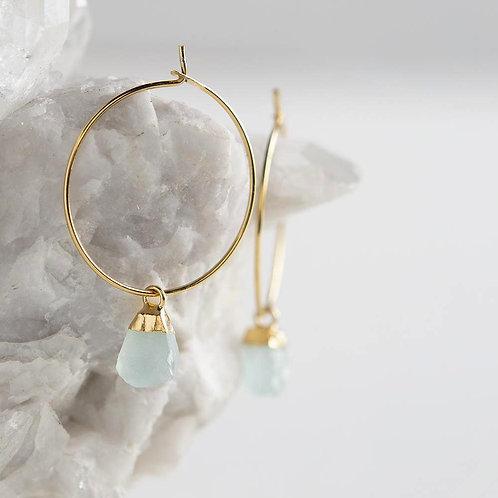 Bella Earrings-Aqua Chalcedony