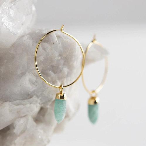 Berklee Earrings-Amazonite