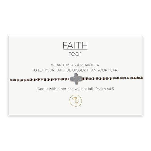 Silver Cross Stretch Bracelet