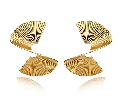 Chic Swirl Earrings Gold or Silver