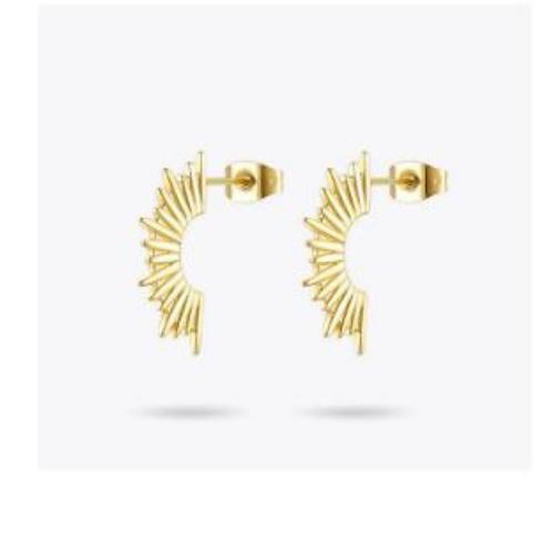 Sunburst Gold Earrings