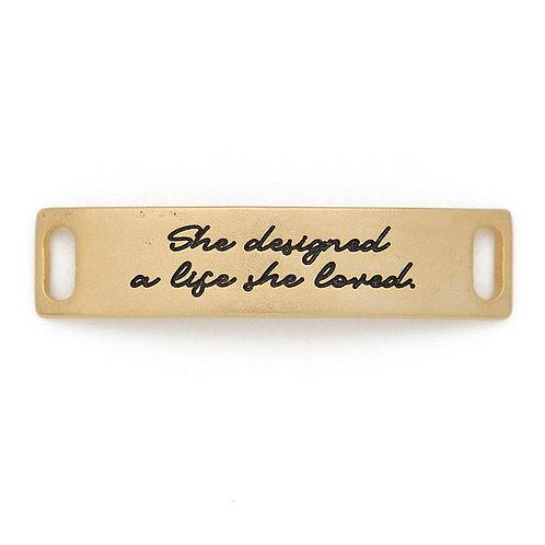 """A Life She Loved"" Sentiment Bracelet Plate"