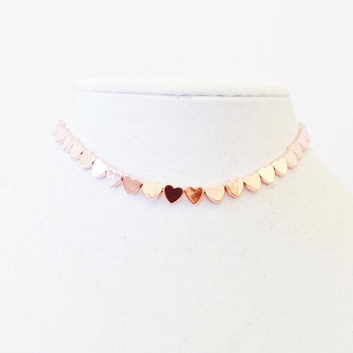 Handmade Lilly Heart Choker (Multiple Colors)
