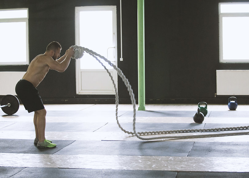 Man Using Ropes