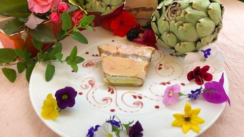 Foie gras au artichaut