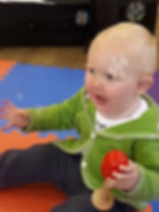 baby toddler sensory music class session