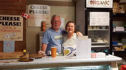 Arthur and Tina at market