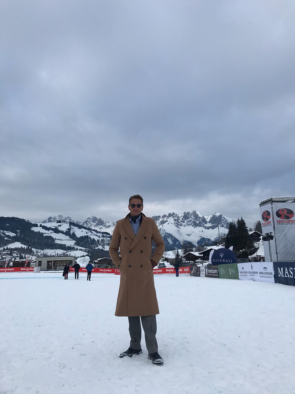 Dr King at SnowPolo Kitzbühel January 2019