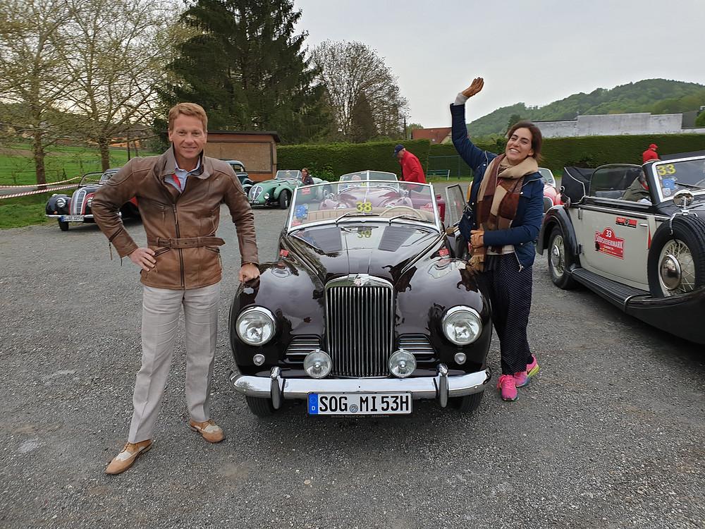 Dr Rudolf King und Prinzessin Wolkonsky im Sunbeam Alpine Mark I (1953) bei der Südsteiermark Classic 2019