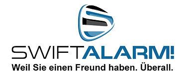 SwiftAlarm Logo and SA and txt because y