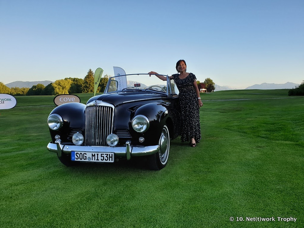Anjuta Aigner beim Golfturnier Beuerberg