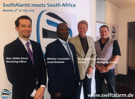 Hoher Besuch - SwiftAlarm! meets South Africa