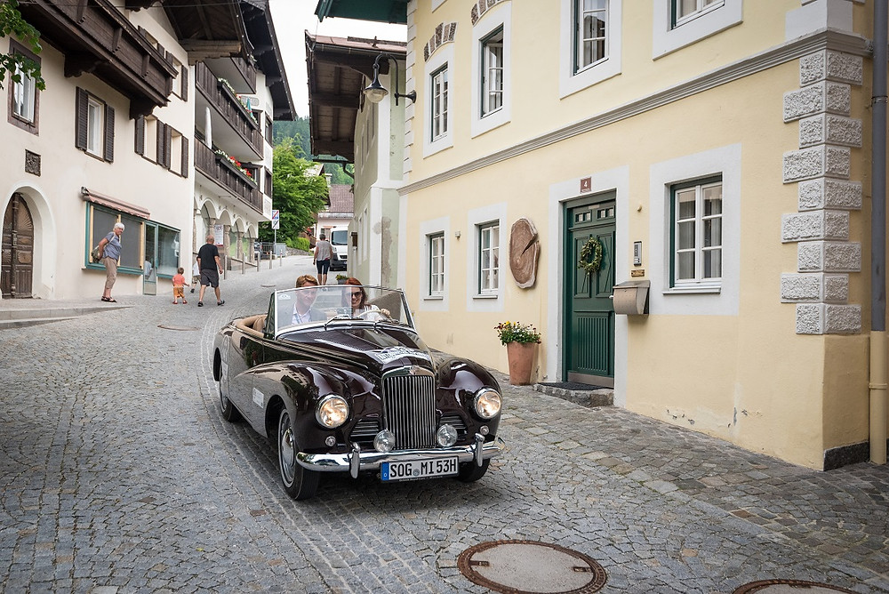 Kitzbühler Alpenrally 2019 Sunbeam Alpine Mark I Dr Rudolf King and Liuba Tsepeleva