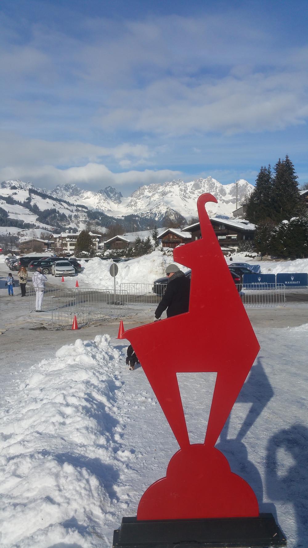 Dr. Rudolf King beim Snowpolo Kitzbühel  Januar 2019