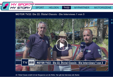 Interview at the Oetztal Classic Hanna King and Dr Rudolf King and his nephew Clement-Louis