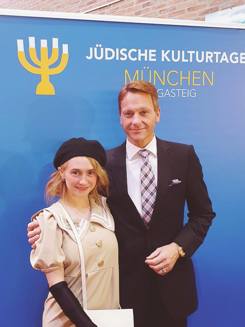 Dr. Rudolf King mit Frau Jasmin Falk bei der Eröffnung der 33. Jüdischen Kulturtage in München (Gasteig)