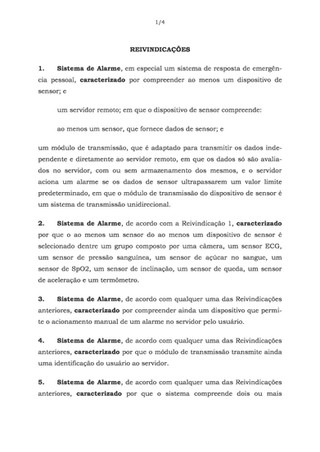 New SwiftAlarm! patent filing to Bresil