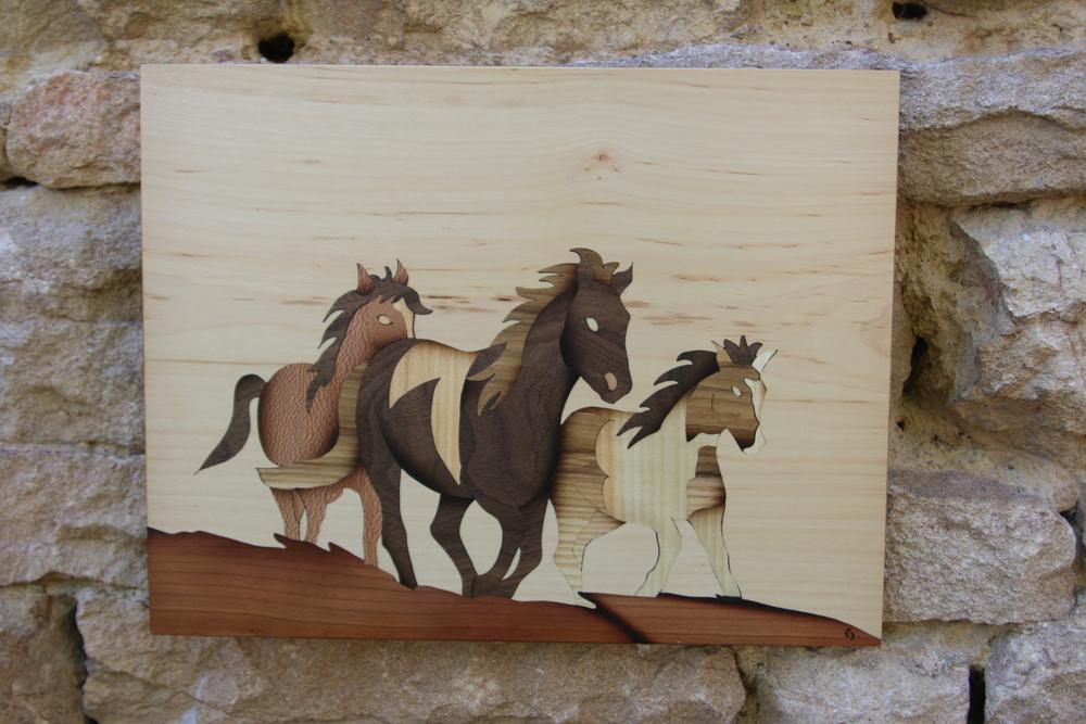 trio cheval