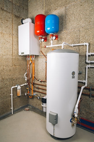 independent heating system in boiler-roo