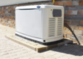 Residential house natural gas backup generator. Choosing a location for house standby generator._edi
