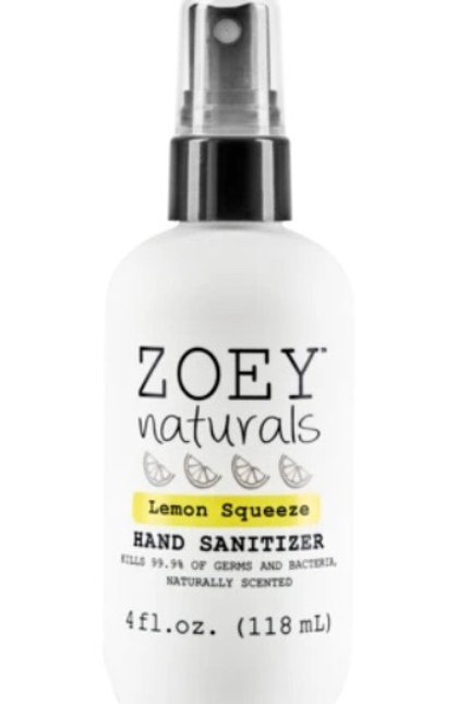Zoey Natural Hand Sanitizer  - Lemon Squeeze