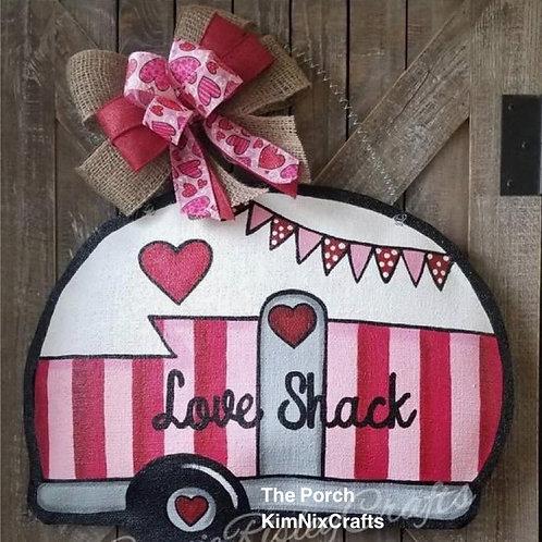Valentine Camper doorhanger