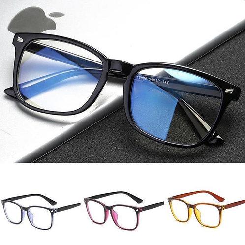 Large frame blue glass blocker glasses
